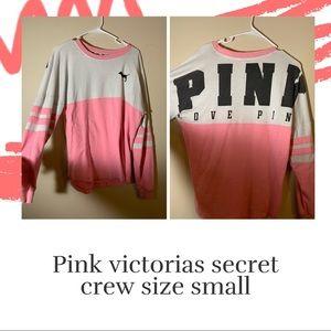 Pink vs crew neck